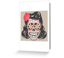 Skull girl art Greeting Card