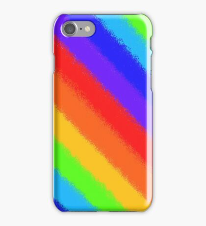 Soft Rainbow Stripes iPhone Case/Skin