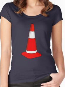 TRAFFIC CONE Women's Fitted Scoop T-Shirt