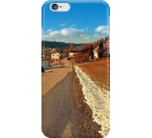 Country road in winter village scenery | landscape photography iPhone Case/Skin