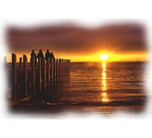 Pier at Sunset  Photographic Print