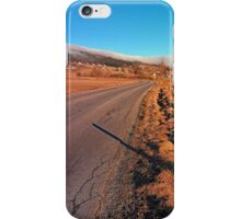 Winter road into the mountains | landscape photography iPhone Case/Skin