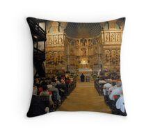 St. Pee sur Nivelle, 16th centurty church Throw Pillow