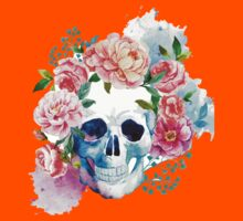 Skull flower art Kids Clothes