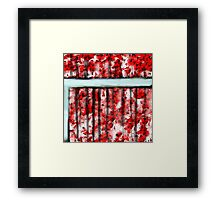 The Red Curtain Framed Print