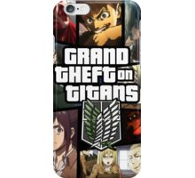 Grand Theft on Titans iPhone Case/Skin