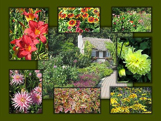 English Garden Collage by Stephen Thomas