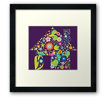 Floral colorful abstract  Framed Print