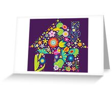 Floral colorful abstract  Greeting Card
