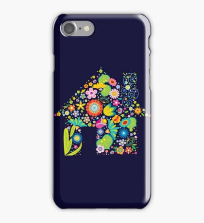 Floral colorful abstract  iPhone Case/Skin