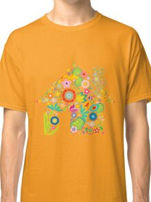 Floral colorful abstract  Classic T-Shirt