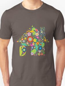 Floral colorful abstract  Unisex T-Shirt