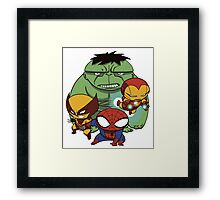 Heroes Mix Framed Print