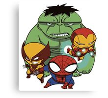Heroes Mix Canvas Print