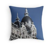 Madrid Typical Building Throw Pillow