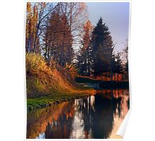 Romantic evening at the lake II | waterscape photography Poster