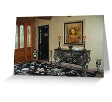 Foyer of Log Cabin Home Greeting Card