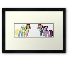 Doctor Whooves and Assistant meets Doctor Whooves Adventure Framed Print