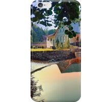 Nature, a river and colorful reflections | waterscape photography iPhone Case/Skin