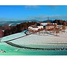 Village scenery in winter wonderland | landscape photography Photographic Print