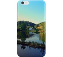 A summer evening along the river | waterscape photography iPhone Case/Skin