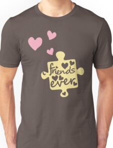 Pastel Best Friends Forever Connection Puzzle (right) Unisex T-Shirt