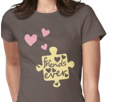 Pastel Best Friends Forever Connection Puzzle (right) Womens Fitted T-Shirt