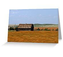 barn on the prairie Greeting Card