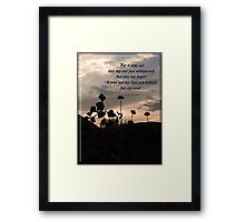 My Heart and Soul Framed Print