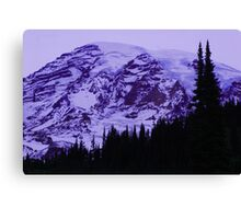 Lavender Twilight at Mt. Rainier Canvas Print