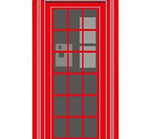 Red London Telephone Box by wiscan