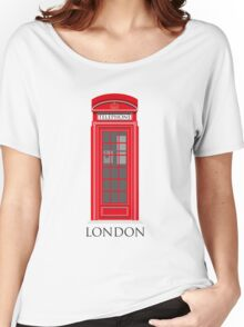 Red London Telephone Box Women's Relaxed Fit T-Shirt