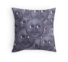 The Moon is Watching Throw Pillow