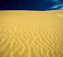 Te Paki sand dunes at night by Paul Mercer