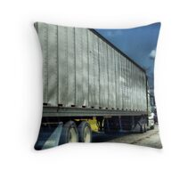 Eighteen Wheeler Throw Pillow