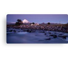 Mount Taranaki at night 2 Canvas Print