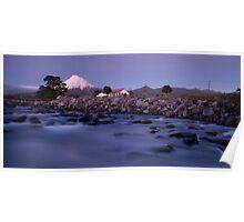 Mount Taranaki at night 2 Poster