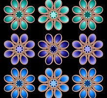 Shades of Blue Foot Flowers by michaelwsf