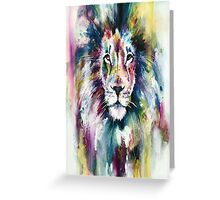 colourful lion Greeting Card