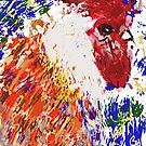 Big Red Rooster an impression / for Walt   by bev langby