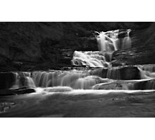 Stupid Falls in Black and White.  Photographic Print