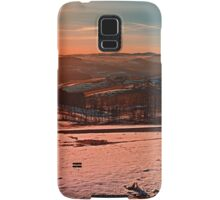 Colorful winter wonderland sundown II | landscape photography Samsung Galaxy Case/Skin