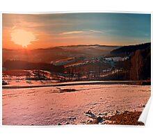 Colorful winter wonderland sundown II | landscape photography Poster