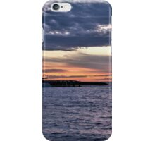 Cloudy sunset yachts iPhone Case/Skin