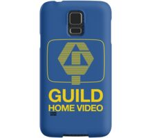 Guild Home Video 1980 yellow on blue Samsung Galaxy Case/Skin