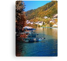 Boats in the harbour | waterscape photography Canvas Print