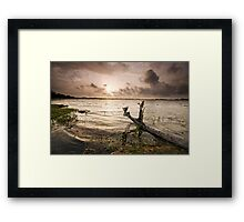 Sunset ... warts and all Framed Print