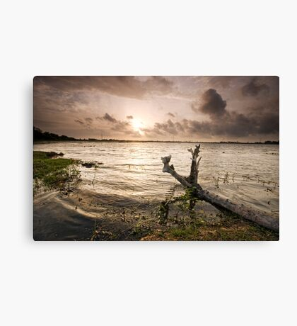 Sunset ... warts and all Canvas Print