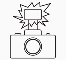 Camera SLR Flash_outline by Phillip Shannon