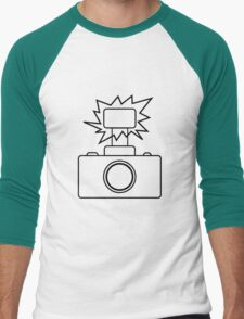 Camera SLR Flash_outline Men's Baseball ¾ T-Shirt
